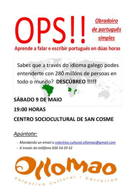 cartel Obradoiro de Portugués
