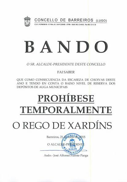 BandoProhibidoRegar