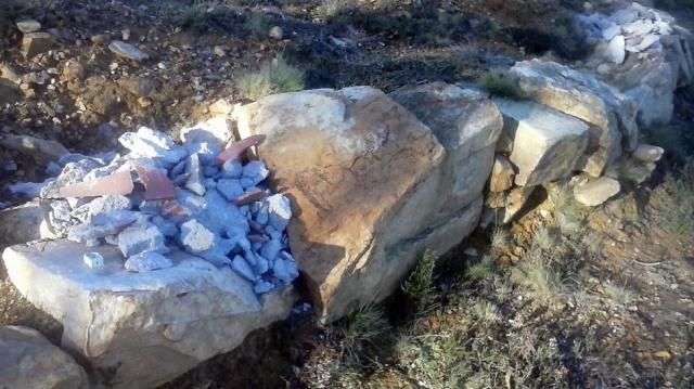 Vandalismo en los restos de A Roda en Reinante